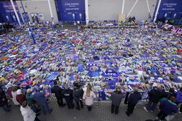 Tributes to the Leicester owner (Photo by Mike Egerton/PA Images via Getty Images)