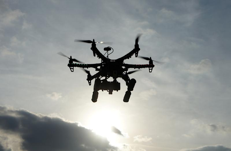 A drone flying in the air. (PHOTO: Getty Images)