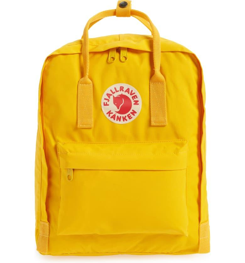 Fjällräven Kånken Water Resistant Backpack in warm yellow