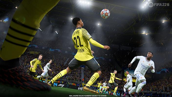 For 'FIFA 22,' due out Oct. 1, EA Sports used motion capture of live competition from 22 pro soccer players (each wore a mocap suit) to add more realism to the game.
