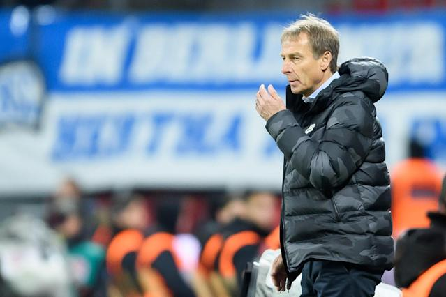 Jurgen Klinsmann will have Hertha Berlin ready to upset Bayern Munich. Coaching license situation notwithstanding. (Photo by TF-Images/Getty Images)