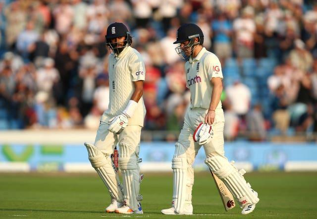 Hameed (left) and Burns put the seal on a perfect day
