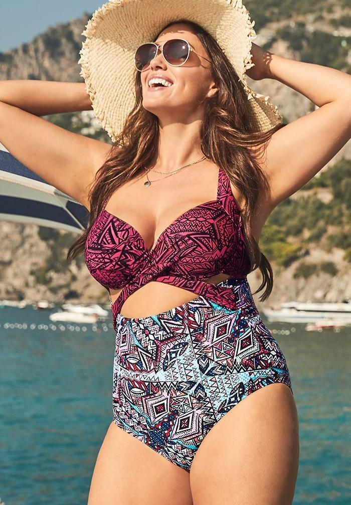 Cut Out Underwire One Piece Swimsuit. Image via Swimsuits for All.