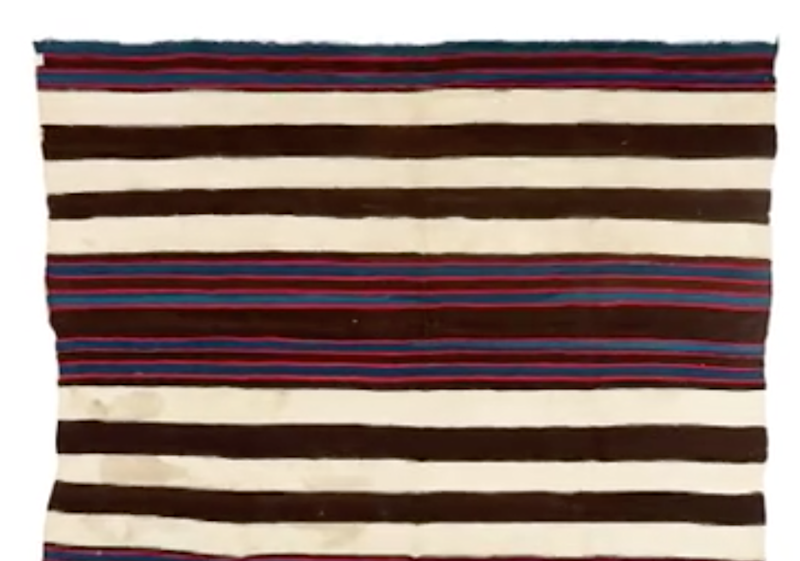 The Navajo weaving on TV looked very similar to one in Loren's closet. Photo: CNBC