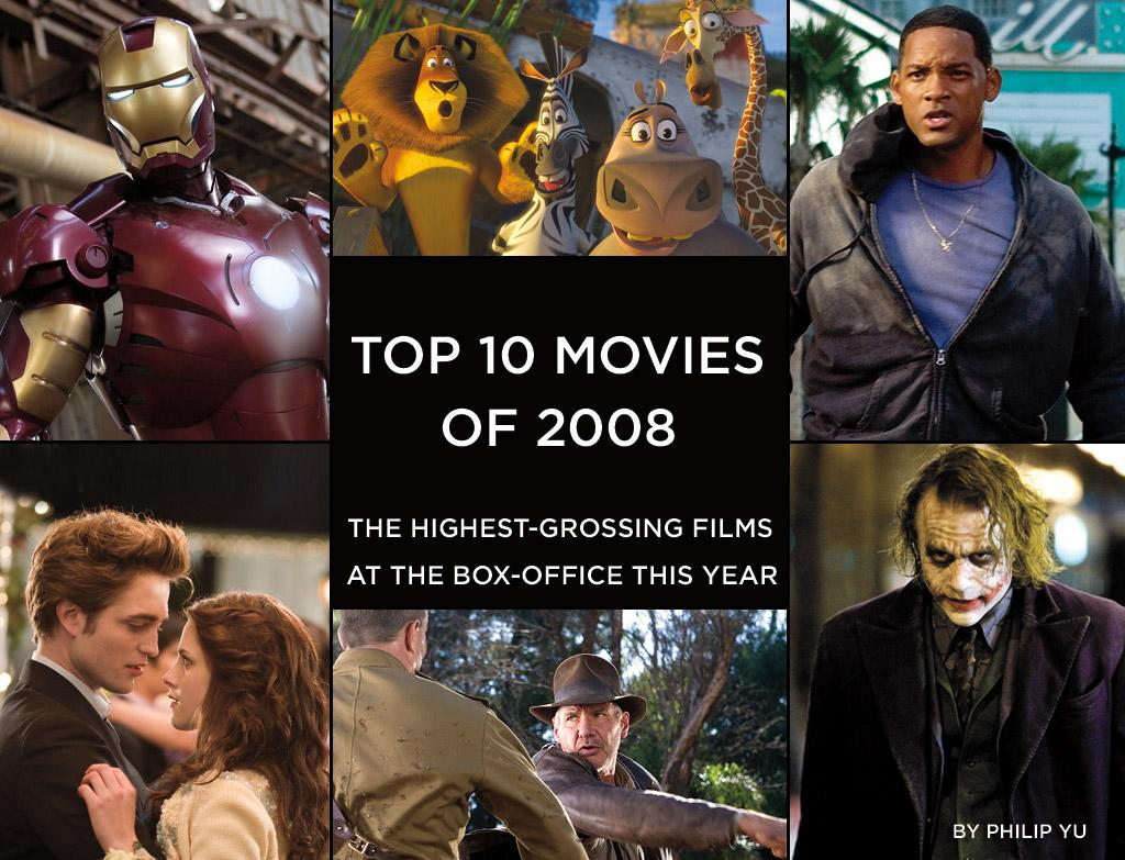 In 2008, superheroes, spies, and animated animals dominated the box office, with moviegoers flocking to theaters to see a little bit of everything, from new heroes to old favorites. Here are the top ten highest grossing films at the domestic box office this year.