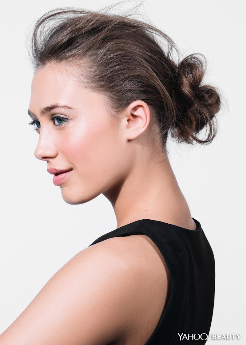 Why The Messy Winter Bun Is A Cold Weather Savior