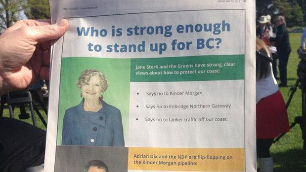 The B.C. Liberal Party paid for this full-page newspaper ad, which ran Friday.