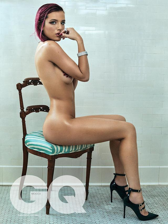 Bella Thorne poses nude to highlight body insecurities, but it backfires. (Photo: GQ Mexico)