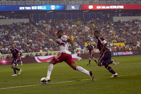 French superstar Thierry Henry playing for Red Bull owned MLS side New York Red Bulls