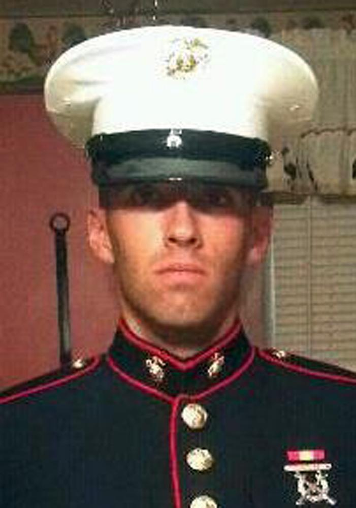 This undated photo provided by the U.S. Marines shows Pfc. Joshua M. Martino of Clearfield, Pa. Martino, 19, was killed with six other Marines in an explosion during a Nevada training exercise on Monday, March 18, 2013. (AP Photo/U.S. Marines)
