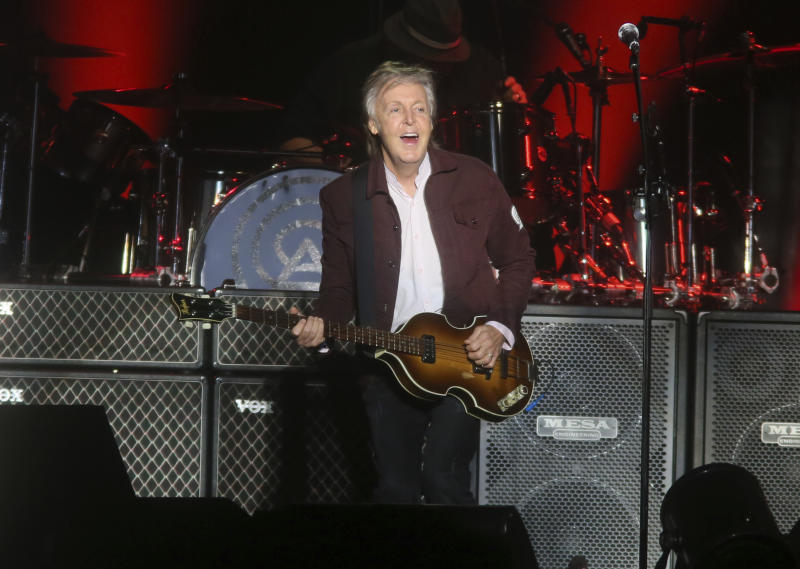Paul McCartney performs on day one of the Austin City Limits Music Festival's first weekend on Friday, Oct. 5, 2018, in Austin, Texas. (Photo by Jack Plunkett/Invision/AP)
