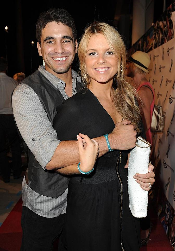 "Newly engaged ""Bachelorette"" Ali Fedotowsky and her reality TV prince, Roberto Martinez, continued their PDA parade at the charity fete. Jordan Strauss/<a href=""http://www.wireimage.com"" target=""new"">WireImage.com</a> - August 3, 2010"