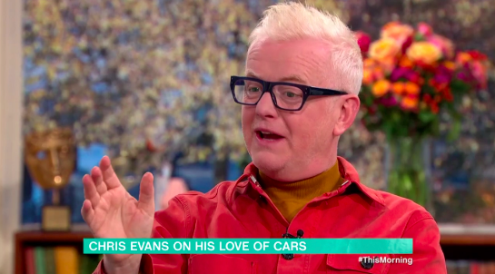 Chris Evans was on This Morning to alk about cars (Credit: ITV)