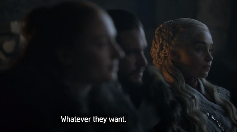Dany with the clapback. (Photo: HBO)