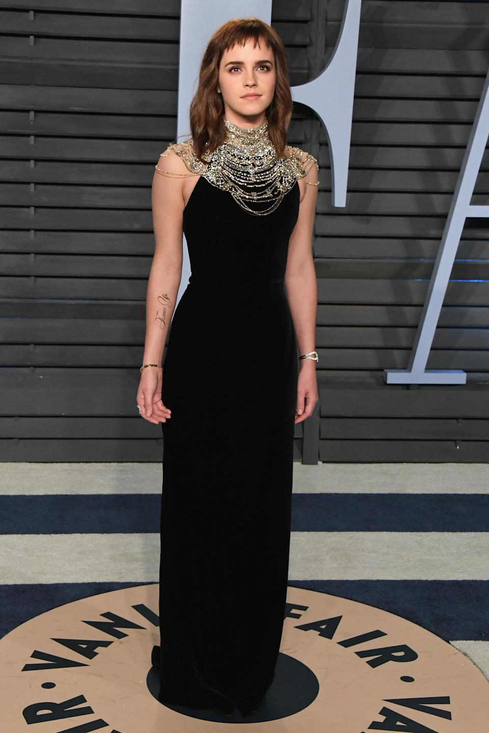 Watson attended the <em>Vanity Fair</em> after-party. (Photo: Getty)