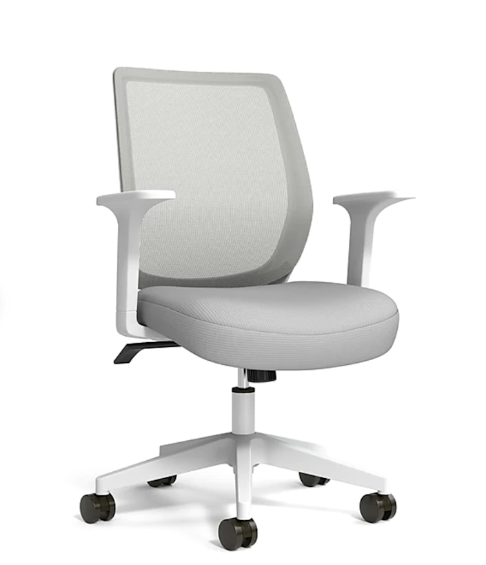 """<h2>Staples Essentials Mesh Back Fabric Task Chair</h2><br>This mesh back task chair is exactly what it says: essential. Bring a comfy vibe into your home office with this not too flashy, not too shabby chair that you'll look forward to sitting in all day.<br><br><strong>The Hype</strong>: 4.5 out of 5 stars and 1,430 reviews<br><br><strong>WFH Pros Say</strong>: """"After buying two other chairs and finding them very uncomfortable, I was happy to find this one in the store. It felt good so I got it, and after two weeks I'm very happy with it. It has the best back support of the three, and the seat is firm, which I find very comfortable, too. The other two chairs were high back, and my daughter uses one and my husband the other, for school and work from home. They both like them very much, so we're all happy.""""<br><br><em>Shop</em> <strong><em><a href=""""http://staples.com"""" rel=""""nofollow noopener"""" target=""""_blank"""" data-ylk=""""slk:Staples"""" class=""""link rapid-noclick-resp"""">Staples</a></em></strong><br><br><strong>Union & Scale</strong> Essentials Mesh Back Fabric Task Chair, $, available at <a href=""""https://go.skimresources.com/?id=30283X879131&url=https%3A%2F%2Fwww.staples.com%2Funion-scale-essentials-mesh-back-fabric-task-chair-gray-un58149%2Fproduct_24419911"""" rel=""""nofollow noopener"""" target=""""_blank"""" data-ylk=""""slk:Staples"""" class=""""link rapid-noclick-resp"""">Staples</a>"""