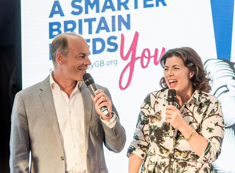 BIRMINGHAM, ENGLAND - JUNE 25: Kirstie Allsopp and Phil Spencer are touring the UK this summer to inspire Britain's households to choose a smart meter, visiting the Merryhill Centre June 25, 2018 in Birmingham, England. The duo will be joined by comedian Susan Calman in 10 cities across the UK, informing as many people as possible about the small but important step everyone can take for a cleaner, greener, smarter future that could also save the UK nearly £560 million a year. Households can ask for a smart meter to be fitted by their energy supplier for free. (Photo by Richard Stonehouse/Getty Images for For Cleaner, Greener, Smarter Britain)