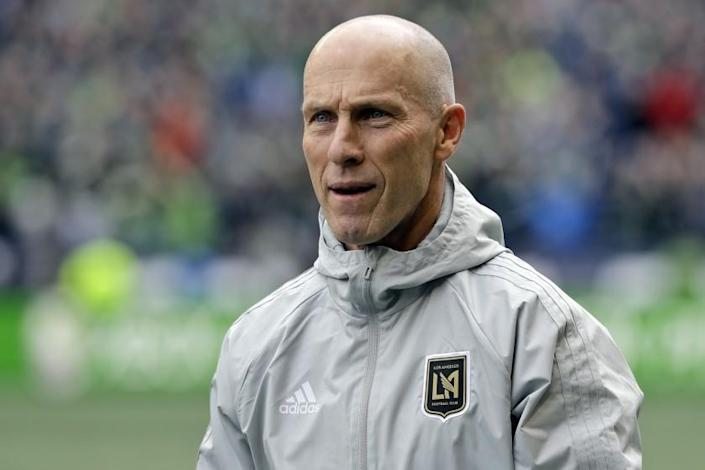 "LAFC coach Bob Bradley says all people must be at the forefront for racial justice. <span class=""copyright"">(Ted S. Warren / Associated Press)</span>"