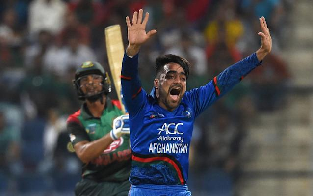 Afghanistan's Rashid Khan was the No1 pick in the inaugural Hundred draft, signed by the Trent Rockets - AFP
