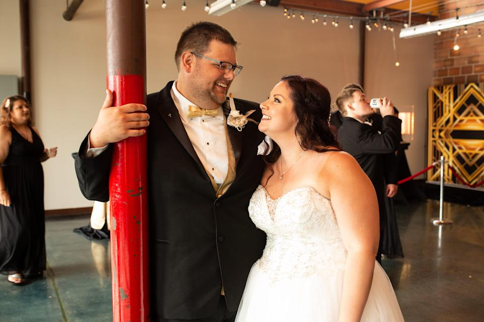 Zachary and Abbie Sempek at their wedding in July 2020.