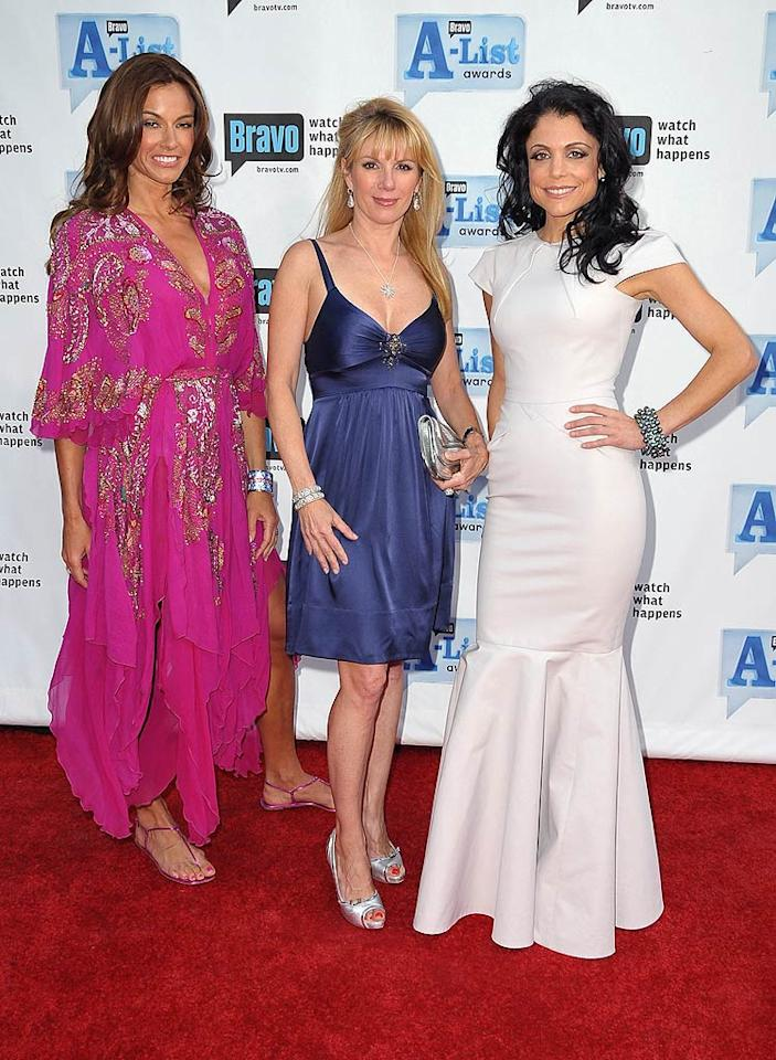 "Unfortunately, only three of the ""Real Housewives of New York"" -- Kelly Bensimon, Ramona Singer, and Bethenny Frankel -- were able to make the trip to LA. Jordan Strauss/<a href=""http://www.wireimage.com"" target=""new"">WireImage.com</a> - April 5, 2009"