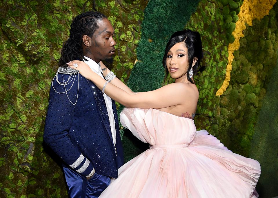 Offset (L) and Cardi B attend Rihanna's 5th Annual Diamond Ball Benefitting The Clara Lionel Foundation at Cipriani Wall Street on September 12, 2019 in New York City. (Photo by Dimitrios Kambouris/Getty Images for Diamond Ball)