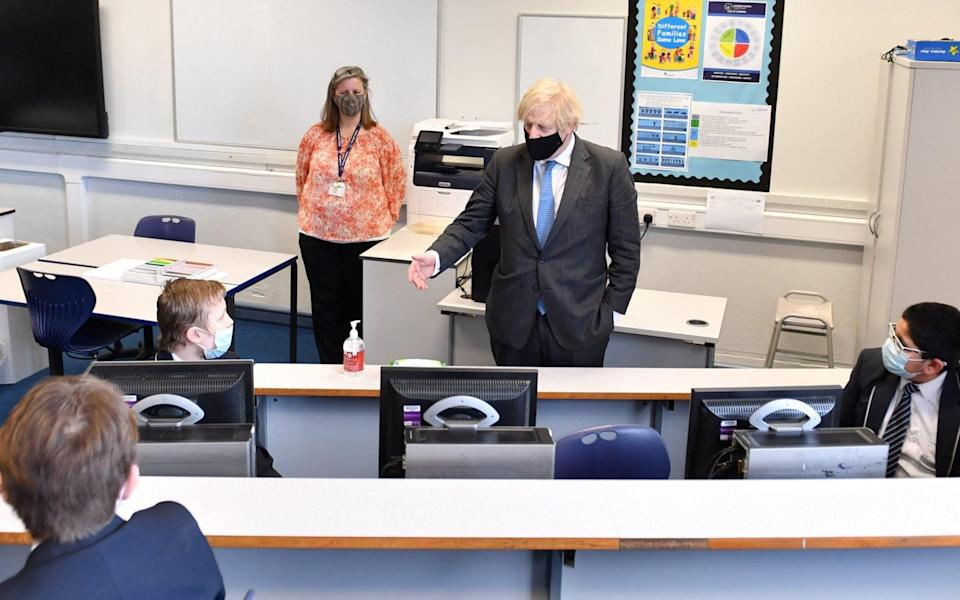 The Prime Minister visiting a school in Lancashire - Getty Images Europe