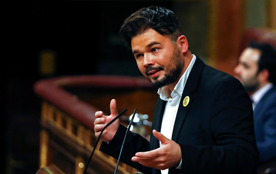 Catalan Left Republican party (ERC) MP Gabriel Rufian speaks during the investiture debate at the Parliament in Madrid, Spain January 4, 2020. REUTERS/Stringer (Photo: Stringer . / Reuters)