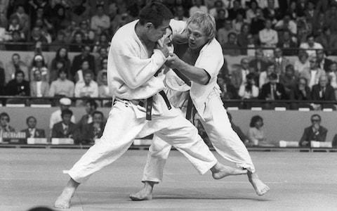 <span>Jacks (right) in action during the 1972 Olympics in Munich on his way to the bronze medal</span> <span>Credit: Getty Images </span>