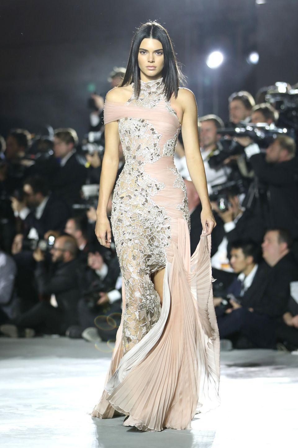 <p>Walking in Naomi Campbell's Fashion for Relief show.</p>