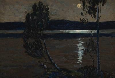 TOM THOMSON, A QUIET SUMMER EVENING, Price Realised $360,000 (CNW Group/Waddington''s Auctioneers)