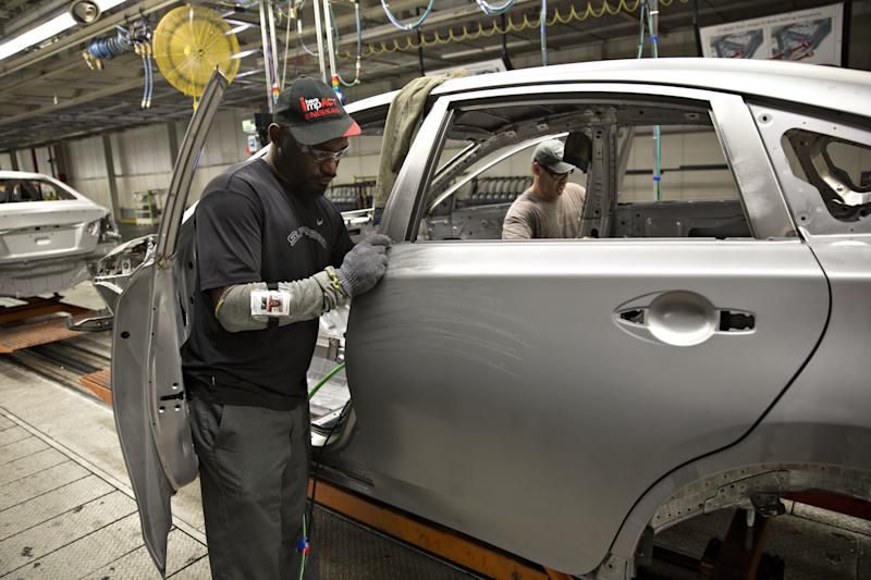 Nissan workers will vote this week in a potentially landmark union election at a plant in Mississippi. (Bloomberg via Getty Images)