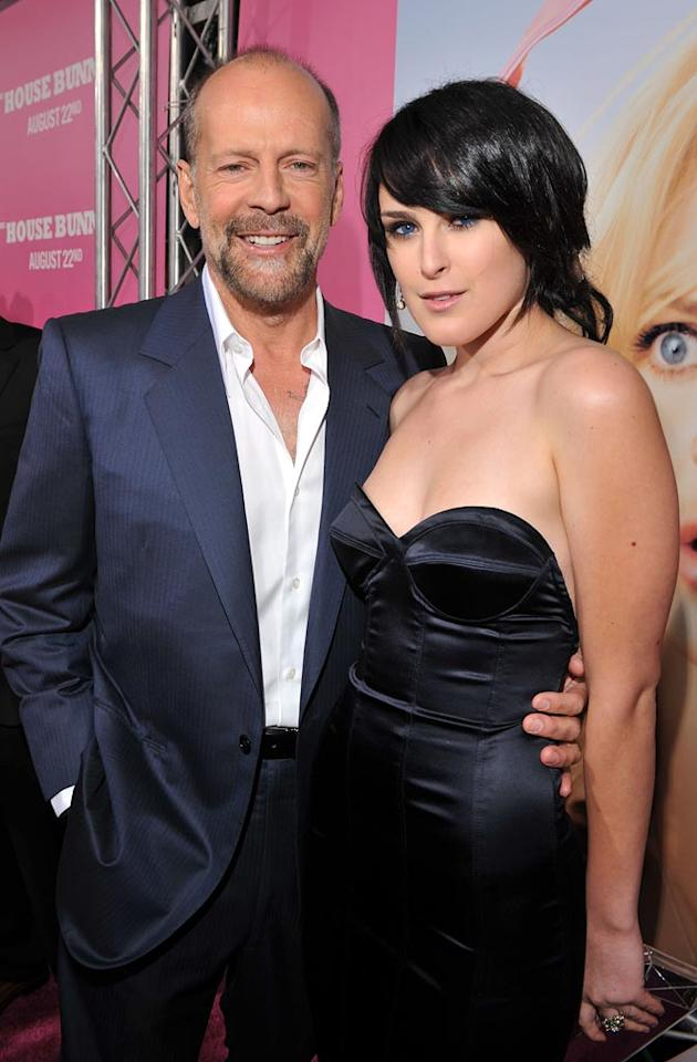 "<a href=""http://movies.yahoo.com/movie/contributor/1800018749"">Bruce Willis</a> and <a href=""http://movies.yahoo.com/movie/contributor/1800260809"">Rumer Willis</a> at the Los Angeles Premiere of <a href=""http://movies.yahoo.com/movie/1809921361/info"">The House Bunny</a> - 08/20/2008"