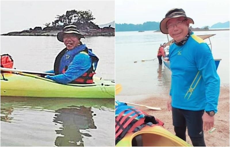 (PHOTOS: Tan Eng Soon, 62, a Singaporean who is a retired lawyer/Social media)