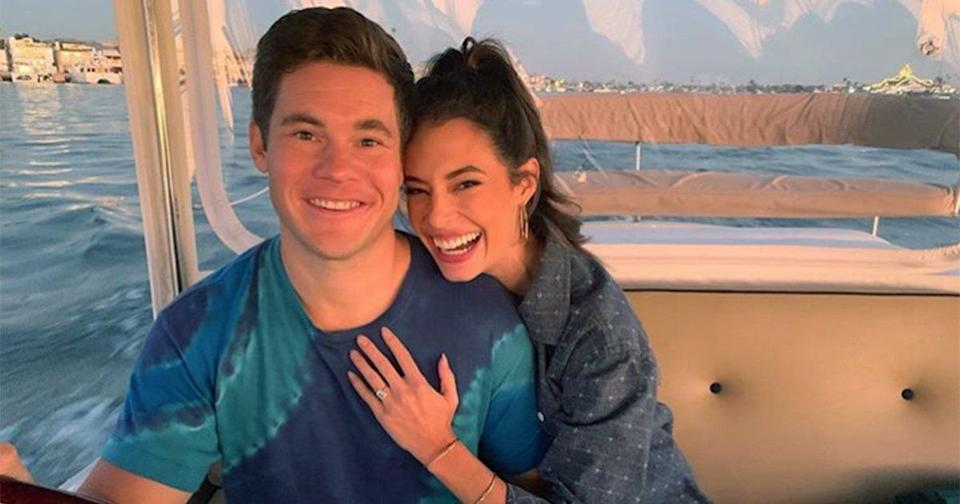 Adam DeVine Is Engaged to Actress Chloe Bridges! 'Have Fun Planning the Wedding,' He Jokes