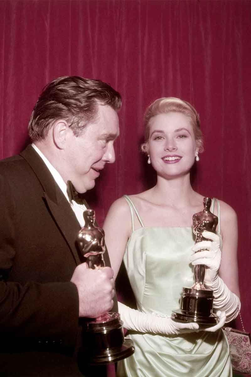 <p>Grace Kelly in a satin Edith Head gown.</p>