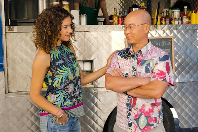 "Dora Madison Burge as Niki and C.S. Lee as Vince Masuka in the ""Dexter"" Season 8 episode, ""This Little Piggy."""