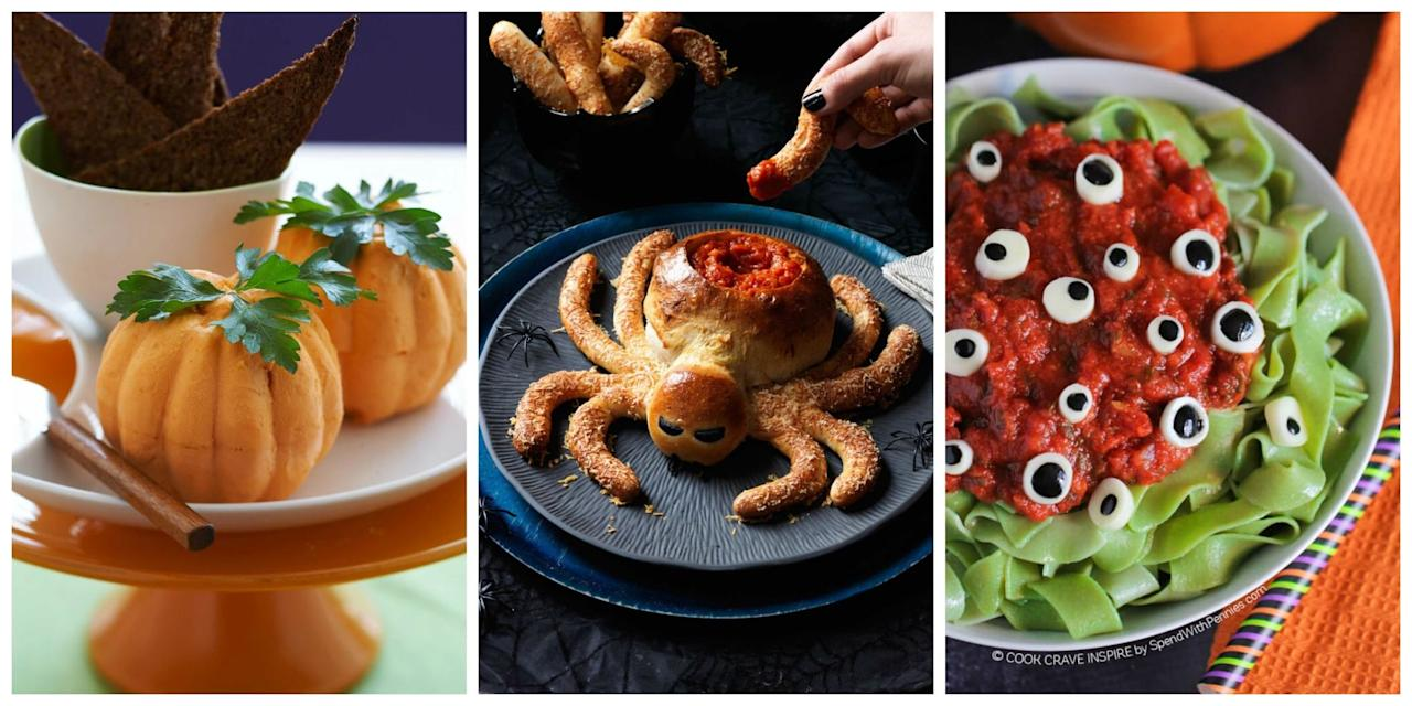 """<p>You'll want to lure some company into your lair this <a rel=""""nofollow"""" href=""""http://www.womansday.com/halloween/"""">Halloween</a>, because these dinner ideas are to die for.<span></span></p>"""