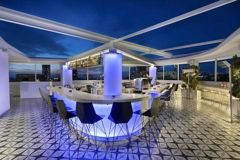 The rooftop bar at the Poli House