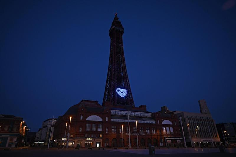 The Blackpool Tower (AFP via Getty Images)