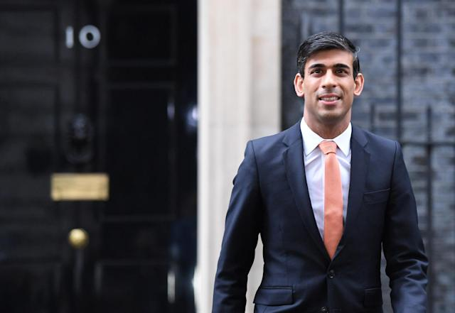 Newly installed Chancellor of the Exchequer Rishi Sunak leaving Downing Street, London, as Prime Minister Boris Johnson reshuffles his Cabinet. (PA)
