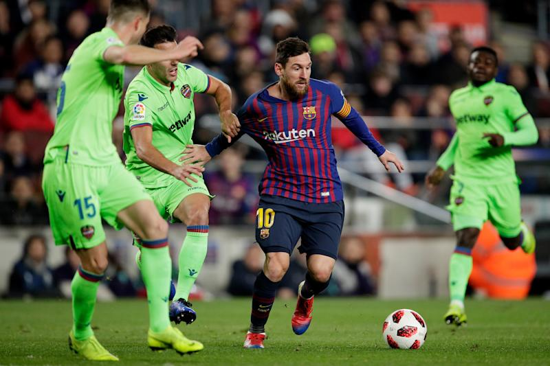 44e52412874 Lionel Messi s goal and two assists help Barcelona come back against Levante