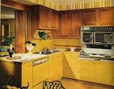 """<p>The emergence of earth tones in the mid-to-late '60s brings shades like """"harvest gold"""" and """"avocado green"""" into kitchens across the country. Though some may go even bolder with color, these hues remained popular even though the '80s. </p>"""