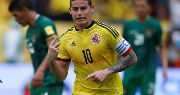 Foot - CM - AmSud - James Rodriguez relance la Colombie contre la Bolivie
