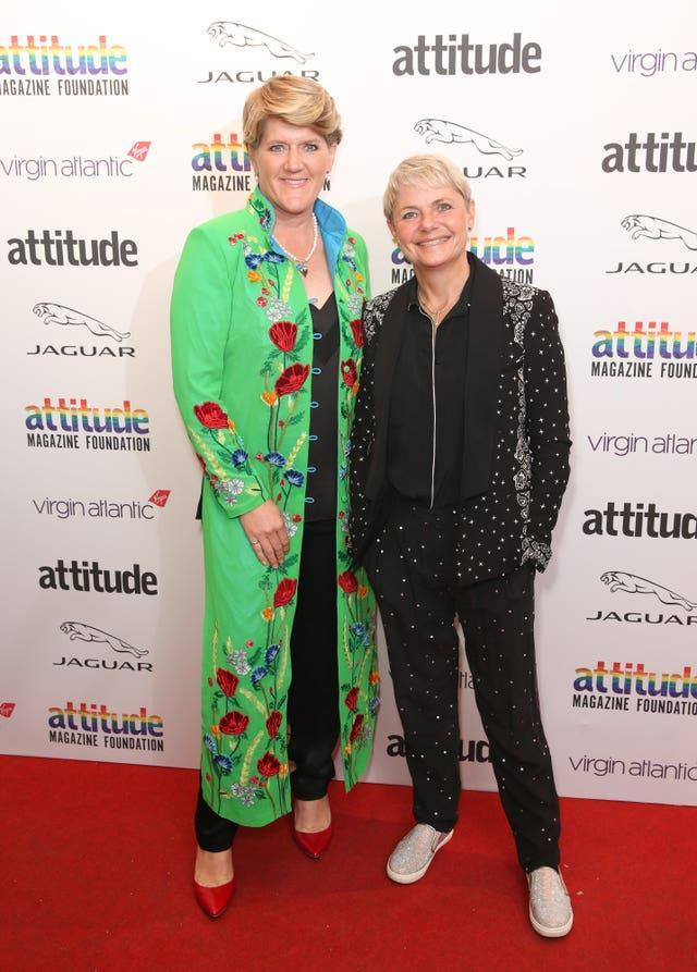 Clare Balding and wife Alice Arnold
