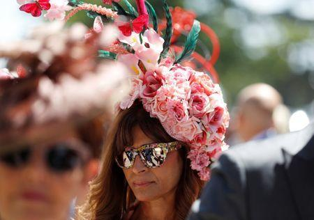 Horse Racing - Royal Ascot - Ascot Racecourse, Ascot, Britain - June 21, 2018 A racegoer before the start of the racing REUTERS/Peter Nicholls