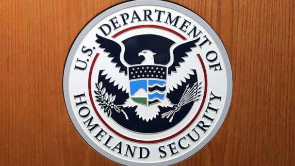 PHOTO: In this August 21, 2019, file photo, the Department of Homeland Security seal is shown in Washington, D.C. (Chip Somodevilla/Getty Images, FILE)