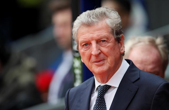 <p>Crystal Palace manager Roy Hodgson before the match REUTERS/David Klein </p>