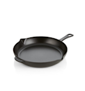 """When it came to selecting <a href=""""https://www.glamour.com/gallery/best-cookware-sets?mbid=synd_yahoo_rss"""" rel=""""nofollow noopener"""" target=""""_blank"""" data-ylk=""""slk:the best pan"""" class=""""link rapid-noclick-resp"""">the best pan</a>, the answer was unanimous: you simply cannot beat a cast-iron skillet. """"There are endless reasons to love and use a well-seasoned cast iron pan; I use mine every day,"""" says Moreno. """"It offers even heating and temperature retention, and it gives a beautiful browning to anything it cooks. Plus, it can move seamlessly from the stovetop to the oven."""" $200, Crate & Barrel. <a href=""""https://www.crateandbarrel.com/staub-matte-black-12-fry-pan/s259157"""" rel=""""nofollow noopener"""" target=""""_blank"""" data-ylk=""""slk:Get it now!"""" class=""""link rapid-noclick-resp"""">Get it now!</a>"""