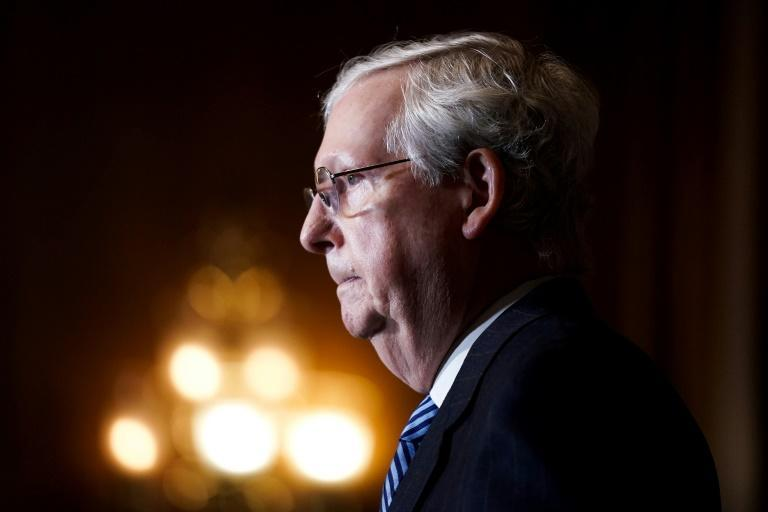 Senate Majority Leader Mitch McConnell said lawmakers will stay in Washington until they have passed a new pandemic relief package